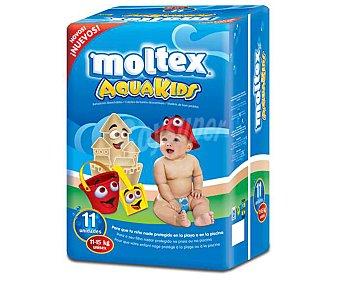 Moltex Pañales bañador talla 3 para bebés de 11 a 15 kilogramos 11unidades