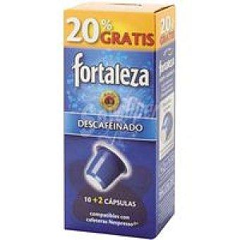 Fortaleza Café Descafeinado Paquete 10+2 c
