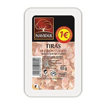 Navidul Tiras de jamón curado Bandeja de 70 g