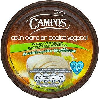 Campos Atún claro en aceite vegetal Lata de 104 g (neto escurrido)