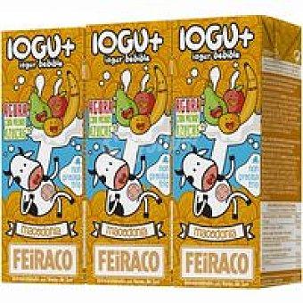 Feiraco Yogur con macedonia Pack 3x200 ml