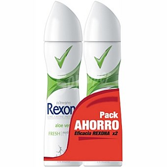 Rexona women desodorante aloe vera  pack 2 spray 200 ml