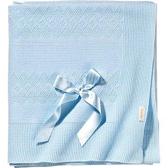 DOMBI Toquilla de punto con lazo en color azul