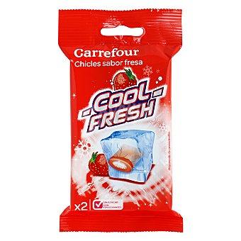 Carrefour Chicles sabor fresa sin azúcar 38 g