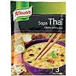 Sopa Thai con fideos, setas y coco 69 g Knorr