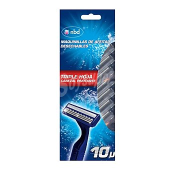 nbd Maquinillas de afeitar desechables 10 unidades