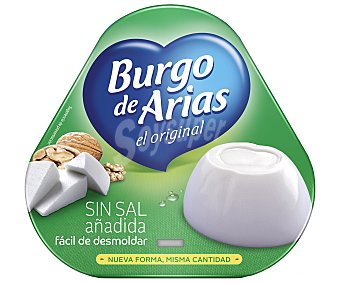 Burgo de Arias Queso fresco natural sin sal Pack 3 envases 72 g