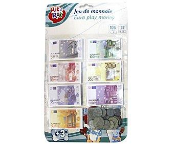 RIK & ROK Set de Billetes y Monedas, Motiva el Juego Simbólico 1 Unidad