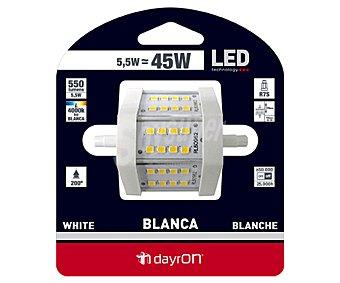 Dayron Bombilla led lineal 5.5 Watios, casquillo R7S, luz blanca 1 Unidad