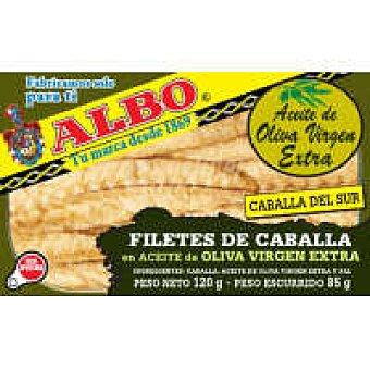 Albo Filete de caballa del sur en aceite de oliva Lata 170 g