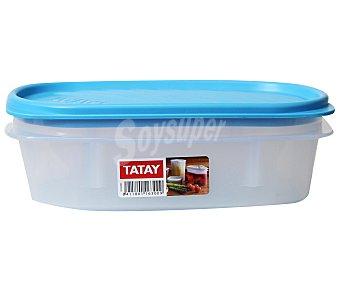 TATAY Tupper ovalado de plásitco apto para lavavajillas y microondas, 0,5 litros 1 Unidad