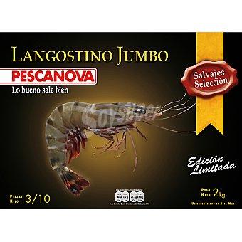 Pescanova Langostino jumbo tigre gigante 3-10 piezas kilo Estuche 2000 g neto escurrido