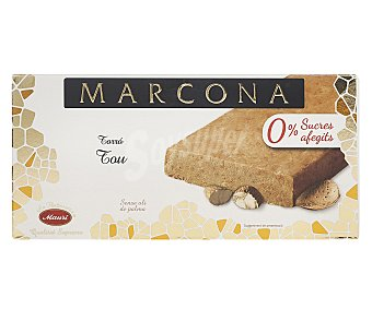 Marcona Turrón blando sin azúcares añadidos y sin aceite de palma 200 g