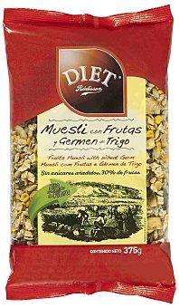 Diet Rádisson Muesli Con Frutas y Germen de Trigo 375 Gramos