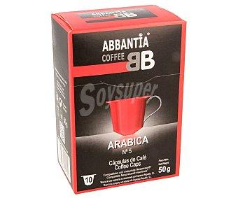 Abbantia Café Arábica en cápsulas nº5 10 uds
