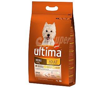 Ultima Affinity Alimento para perros mini adultos rico en pollo Bolsa 3 kg