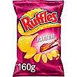 Patatas onduladas Ruffles sabor jamón matutano Bolsa 160 g Ruffles
