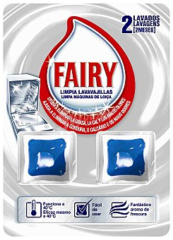 Fairy Limpia máquina Pack 2 dosis