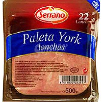 Serrano Paleta de york Bandeja 500 g
