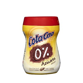 Cola Cao Cacao Soluble 0% Bote 325 gr