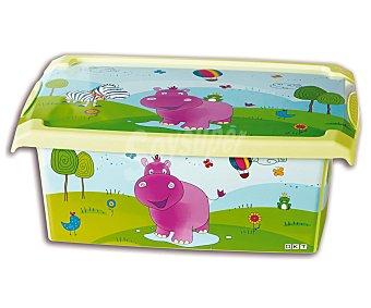 PENGO Caja de ordenación con tapa de 10 litros, modelo Fashion Hippo 1 Unidad