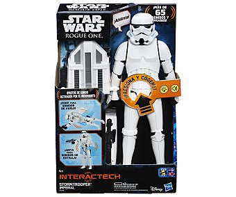 Star Wars Rogue One Figura interactiva con frases, luces y sonidos Stormtrooper Imperial, 30cm., Rogue One WARS.