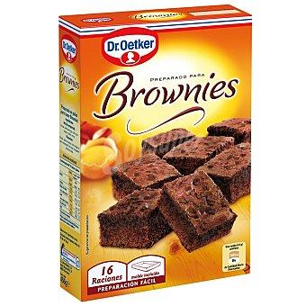 Dr. Oetker Preparado para brownies 16 raciones con molde incluido Estuche de 456 g