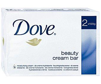 Dove Pastilla de jabon hidratante pack 2 unds. 100 g