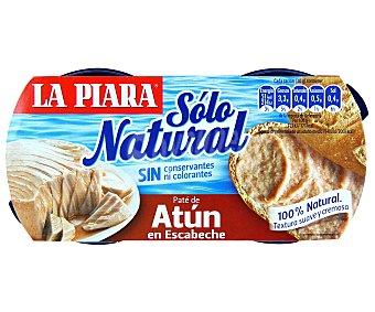 La Piara Sólo Natural Paté de atún en escabeche Pack 2 latas x 75 g