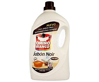 Omino Bianco Detergente líquido para la ropa con jabón Noir (quitamanchas natural), ideal para prendas blancas y de color 53 lavados