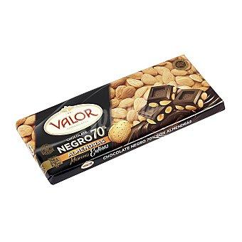 Valor Chocolate negro 70% cacao con almendras Tableta 250 g