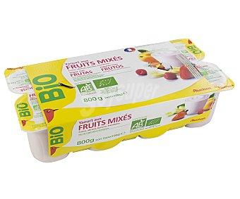 Auchan Yogur Batido con Pulpa Fruta Ecológico 8x125g