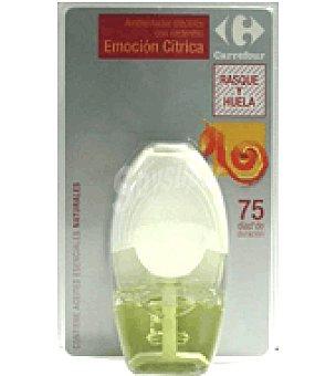 Carrefour Ambientador electrico difusor+recambio emoción citrica 20ml 1 ud