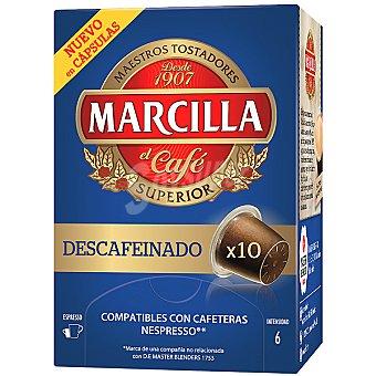 Marcilla Café descafeinado ápsulas estuche 50 g 10 c