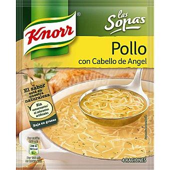 Knorr Sopa de pollo con cabello ángel Sobre 74 g