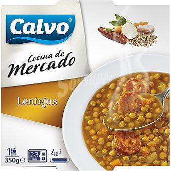 Calvo Cocina de mercado lentejas guisadas Bandeja 350 g