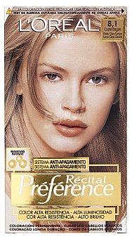 L'Oréal Paris Coloración Permanent Récital Préfér 8.1 Rubio Ceniza l'oréal 1 ud