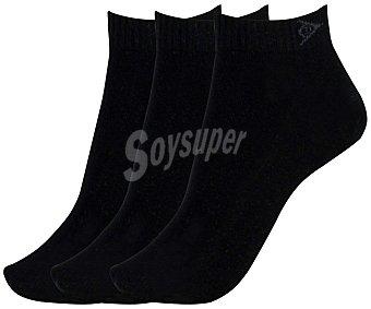Dunlop Pack de 3 pares de calcetines con borde tipo puño y zona de aireación Pack de 3