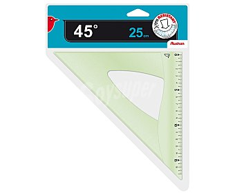 Auchan Escuadra de 25 centímetros y 45 grados auchan 25cm