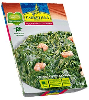 Carretilla Espinacas con gambas 240 g
