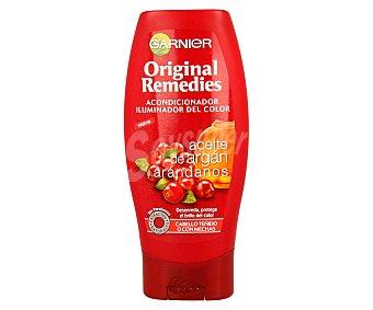 Garnier Acondicionador iluminador del color con aceite de argán y arándanos para cabello teñido o con mechas (desenreda, protege el brillo del color) 200 mililitros