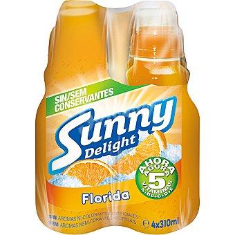 Sunny Delight Refresco multifrutas con tapón sport Pack 4 unidades 310 ml