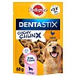 Snacks dental para perros de más de pack de 68 G 15 kg Pedigree Dentastix