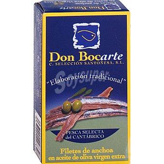 Don bocarte Filetes de anchoa en aceite de oliva virgen lata 90 g lata 90 g
