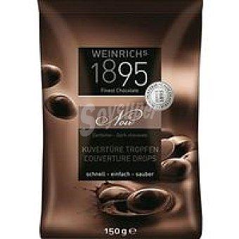 1895 Gotas de cobertura de chocolate negro extrafino 150 g