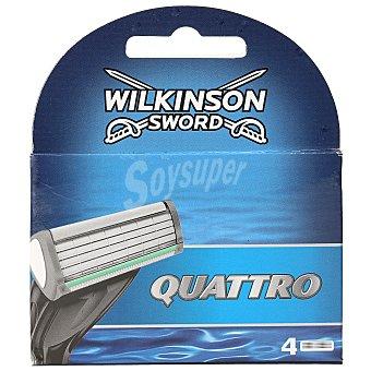 Wilkinson Sword quattro recambio maquinilla Blíster 4 uds