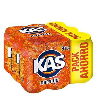 Kas Refresco de naranja 9 latas de 33 cl