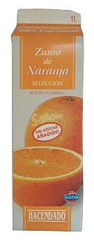 Hacendado Zumo naranja seleccion refrigerado Brick 1 l