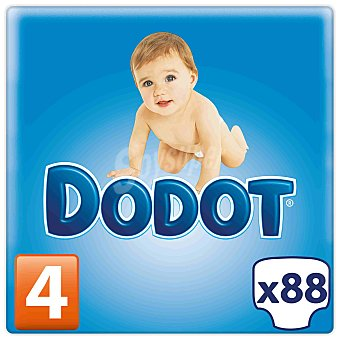 DODOT Pañales para niños de 9 a 15 Kilogramos Talla 4 88 Unidades