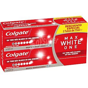 Colgate Max White pasta dentífrica menta sensacional  pack 2 tubo 75 ml